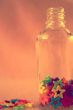 Colorful stars in a bottle by ary
