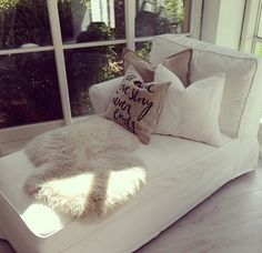 For a screened in porch, minus the white fur throw.