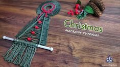 Macrame Tutorial for beginners. This is a very Easy wall hanging Christmas tree. I combine macrame wreath as a top of the tree and wall hanging part which yo. Simple Christmas, Christmas And New Year, Christmas Ideas, Wall Hanging Christmas Tree, Xmas Tree, Magic Knot, Cotton Cord, Easy Wall, Macrame Tutorial