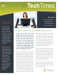 free email newsletter design template