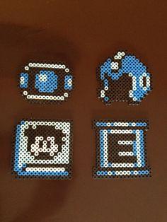Mega Man 8 Bit Perler - Power Ups via eb.perler. Click on the image to see more!