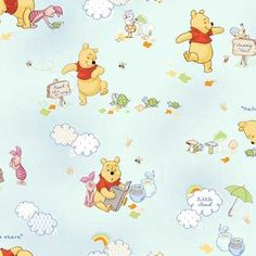 Springs Creative Winnie-The-Pooh Nursery Little Cloud Friends Fabric By The Yard