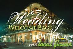 Party Ideas by Mardi Gras Outlet: Wedding Welcome Bags with a Louisiana Mardi Gras Theme
