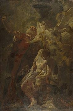 Oil Painting 'Giovanni Battista Piazzetta The Sacrifice Of Isaac' 30 x 45 inch / 76 x 115 cm , on High Definition HD canvas prints is for Gifts And Gym, Hallway And Powder Room Decoration >>> Find out more about the great product at the image link.