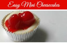 A Helicopter Mom - Super Easy Mini Cherry Cheesecake Bites Recipe  *****Five Stars***** Super cute! Fill cheesecake all the way up in the cup.
