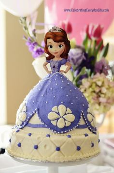 Pinned by Sarah Here's the amazing cake from the Sofia the first birthday party, birthday party, Celebrating Everyday Life with Jennifer Carroll Princess Sofia Birthday, Sofia The First Birthday Party, 3rd Birthday Parties, Happy Birthday, Birthday Ideas, Princess Party, Sofia The First Cake, Sofia Cake, Bolo Barbie