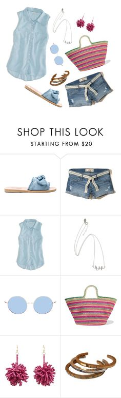 """""""What do you say?"""" by ravenclaw-phoenix ❤ liked on Polyvore featuring Ancient Greek Sandals, Hollister Co., American Eagle Outfitters, Sensi Studio and MANGO"""