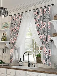 Living Room Decor Curtains, Home Curtains, Home Decor Bedroom, Elegant Curtains, Colorful Curtains, Shabby Chic Curtains, Home Building Design, Home Room Design, Kitchen Decor Themes