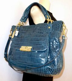 coach croc handbag images   ... NWT Coach KRISTIN Exotic Croc Embossed X-Large Tote Shoulder Bag 16795