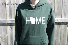 Hey, I found this really awesome Etsy listing at https://www.etsy.com/listing/206237478/wisconsin-home-hoodie-wisconsin
