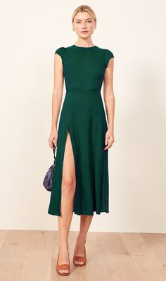 a79f4916e12 Eco-Friendly Special Occasion Dresses - Reformation Green Occasion Dresses