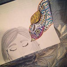 MUSIK  #pmmv #birds #doodle #musik #passion #escapism #liberty #evasion #cro #panda #carloweibel #stars #vintage #grunge #retro #girl #beautiful #earphones #iphone #draw #drawing #hair #beauty #feather #sketchbook #eyes #dreaming #happiness #travel #art