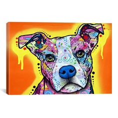 iCanvas Dean Russo Serious Pit Canvas Print Wall Art