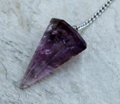 #Amethyst #Crystal #Pendulum by BeadyEyedBird on Etsy, $22.00