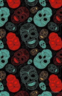Super Ideas For Wallpaper Preto Caveira Trendy Wallpaper, Dark Wallpaper, Cute Wallpapers, Wallpaper Backgrounds, Iphone Wallpaper, Phone Backgrounds, Screen Wallpaper, Wallpaper Calaveras, Sugar Skull Wallpaper