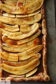 Banana Caramel Tart @Heather Creswell Christo