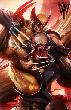 Wolverine vs. Predator Marvel Comics & Alien by Wizyakuza on Etsy