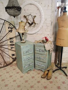 Painted Cottage Chic Shabby White French Night by paintedcottages, $120.00
