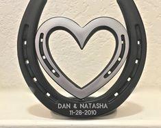Two Hearts One Love HORSESHOE heart western by BlacksmithCreations