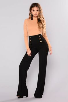 Kira wide leg pants Fashion Nova
