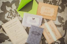 We adore the retro/vintage feel of this stationary! | Intimate Iceland Wedding: Kathleen + Steven