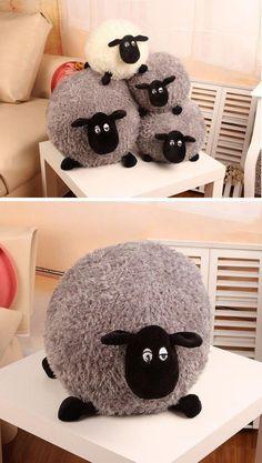 Stuffed Soft Plush Sheep Pillow-Home Decor-Tac City Goods Co.