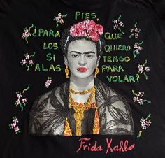 Frida Kahlo Shirt Painting T shirts 3d Art Work Quor Mexican Floral - Quortshirts
