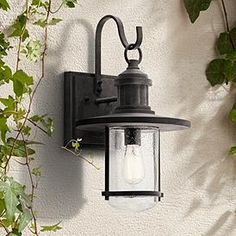 "Kichler Riverwood 19 1/2""H Weathered Zinc Outdoor Wall Light Outdoor Porch Lights, Barn Lighting, Rustic Outdoor, Outdoor Wall Lighting, Outdoor Walls, House Lighting, Hanging Lights, Wall Lights, Dappled Light"