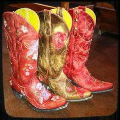 Old Gringo Cowgirl Boots. Red. RiverTrail Mercantile, North Carolina.