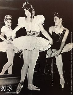 1942 shot of SFB ballerinas Ruby Asquith & Onna White backstage in Coppelia  FYI: Onna went on to become a leading choreographer for Broadway AND Hollywood — her movies include Bye Bye Birdie and Oliver!