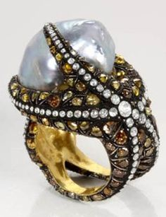 Sevan Pearl Ring.....via jewelrybusinessguru.typepad.com