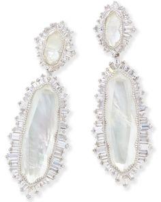 Katrina Statement Earrings in Silver - Kendra Scott Jewelry