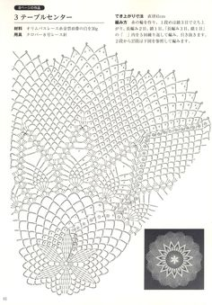 Japanese book and handicrafts - Suteki Pineapple Crochet Laces 2011 Filet Crochet, Crochet Doily Diagram, Crochet Doily Patterns, Crochet Round, Crochet Chart, Crochet Home, Crochet Motif, Crochet Doilies, Knit Crochet