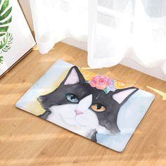 Tuxedo Cat Lovers Feline Print Multicolor Mats 40*60cm/50x80cm Entrance Doormats Washable Kitchen Floor Bathroom Rug