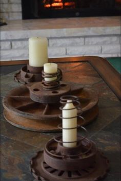 Always have rusty parts! Repurposed Candles
