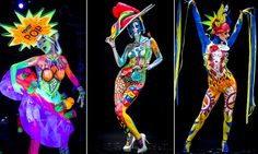 Naked artists celebrate World Bodypainting festival in Poertschach am Woerthersee, Austria | Mail Online