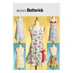 Butterick B4945 Sewing Pattern - Aprons - CraftStash