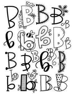 letter B font alphabet Doodle Fonts, Doodle Lettering, Creative Lettering, Lettering Styles, Brush Lettering, 2017 Lettering, You Doodle, Lettering Ideas, Lettering Tutorial