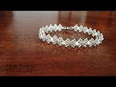 Beaded Bracelets Tutorial, Diy Bracelets Easy, Bead Loom Bracelets, Beaded Bracelet Patterns, Woven Bracelets, Seed Bead Patterns, Jewelry Patterns, Beaded Jewelry, Diy Crown