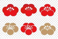 梅の花イラスト 素材 Japan Design, Design Poster, Logo Design, Design Design, Japanese Quilt Patterns, Japanese Modern, Japanese Plum, Stencil, Chinese New Year Card