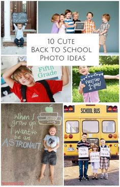 Capture your child's first day of school with these cute photo ideas. #backtoschool