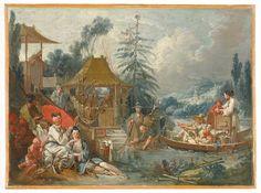 Chinoiserie by François Boucher1742  La Pêche chinoise