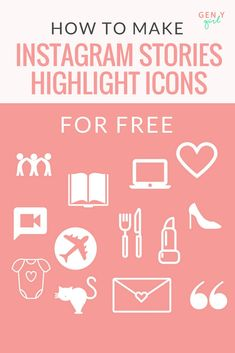 Step by step tutorial using Canva to make Instagram Stories highlight icons for free!