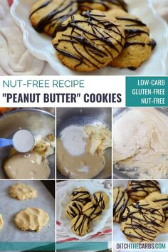 Finally a low carb nut free peanut butter cookie! Finally a low carb nut free peanut butter cookie! Gluten Free Peanut Butter, Gluten Free Treats, Peanut Butter Cookies, Nut Free Cookies, Keto Cookies, Low Carb Sweets, Low Carb Desserts, Keto Dessert Easy, Dessert Recipes