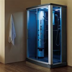 Seriously stylish Shower Parts for your home. Hardware > Plumbing > Plumbing Fixture Hardware Parts > Shower Parts > Mesa Rectangle Sliding Steam Shower Base. Home Design, Interior Design, Design Ideas, Two Person Shower, Steam Shower Enclosure, Master Bath Shower, Luxury Shower, Luxury Spa, Shower Base
