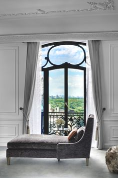 French Chaise with lovely detailed window, view