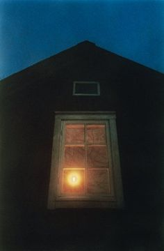 Candle in the window at night....