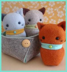 Three Little Kittens - by May Blossom - Softie Pattern
