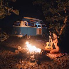 """""""Free in her wildness."""" Vanlifer @sabrinahorel #vanlifers #vanlife"""