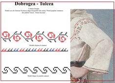 Modele de cusaturi traditionale din Dobrogea | Simona Moon Stitch 2, Cross Stitch, Embroidery, Blog, Romania, Origami, Costume, Dreams, Models